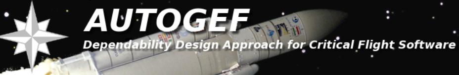 AUTOGEF – Dependability design approach for critical flight software