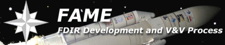 FAME – FDIR Development and Verification & Validation Process
